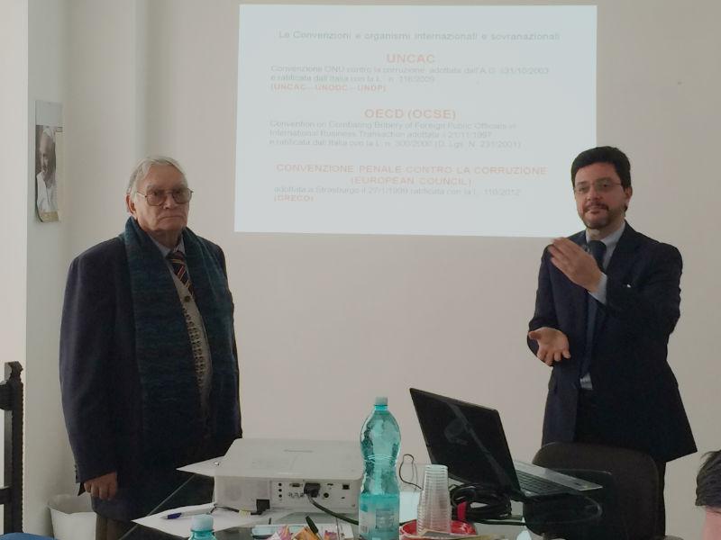 Il Direttore Ottavio Castello e l'avv. Marcello Spissu